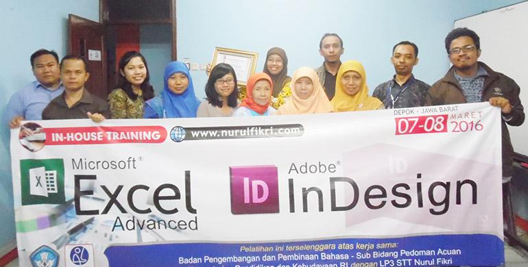 Training Microsoft Excel Advanced, Badan Pengembangan dan Pembinaan Bahasadang Pedoman Acuan, Kemendikbud - RI