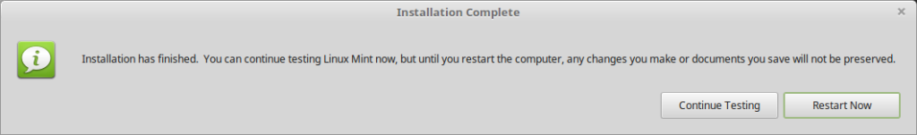 installer-finished-linux-mint-cinnamon