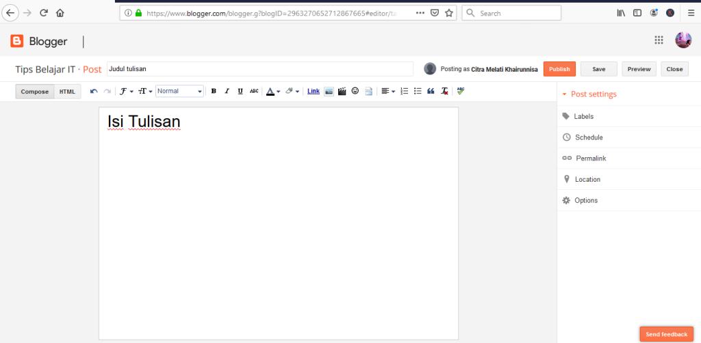 langkah menulis blog dalam cara membuat blog