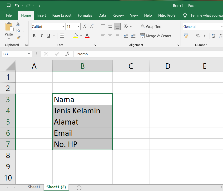Cara Mudah Membuat Titik Dua di Excel